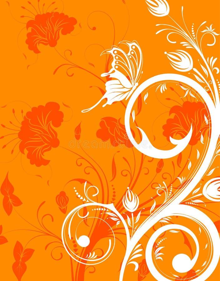 bakgrundsblomma royaltyfri illustrationer