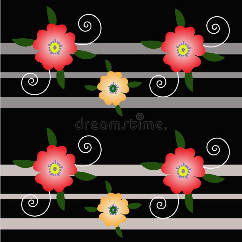 Bakgrundsblomma och linje royaltyfria bilder