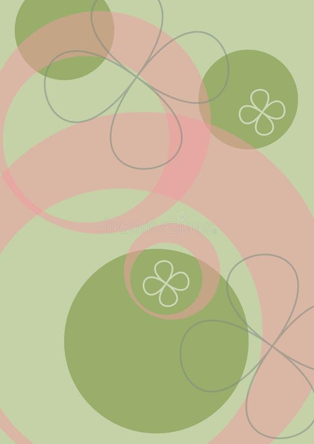 bakgrundsblommapop vektor illustrationer