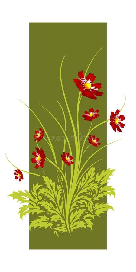 bakgrundsblommor stock illustrationer