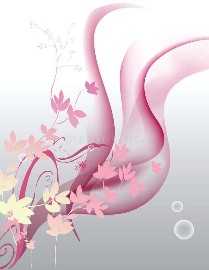 bakgrundsblommor royaltyfri illustrationer