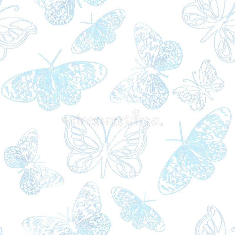 bakgrundsbluefjärilar vektor illustrationer