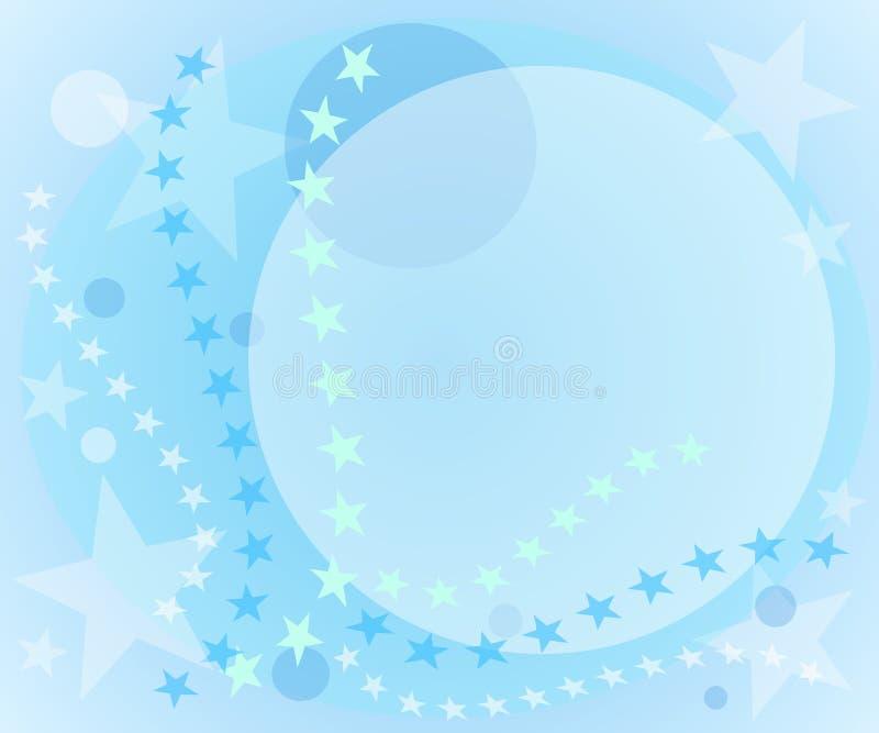 bakgrundsbluen cirklar stjärnor royaltyfri illustrationer