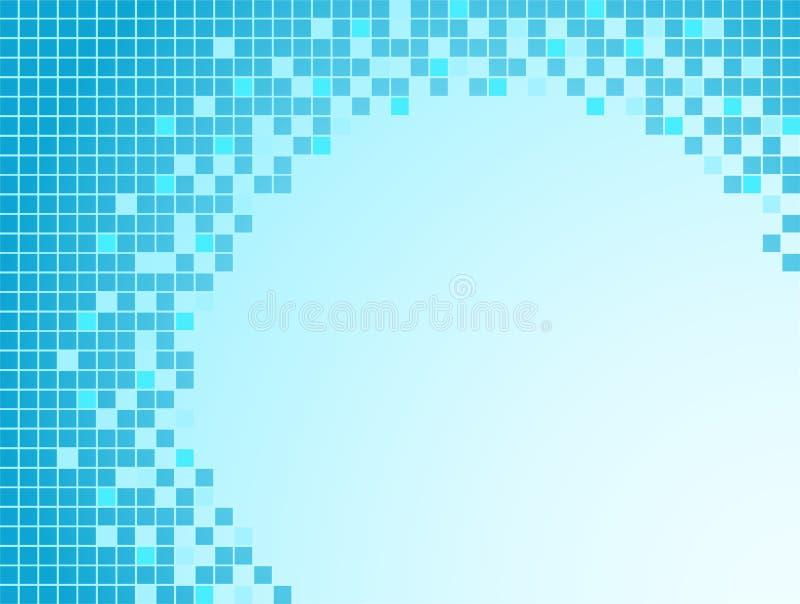 bakgrundsbluePIXEL royaltyfri illustrationer