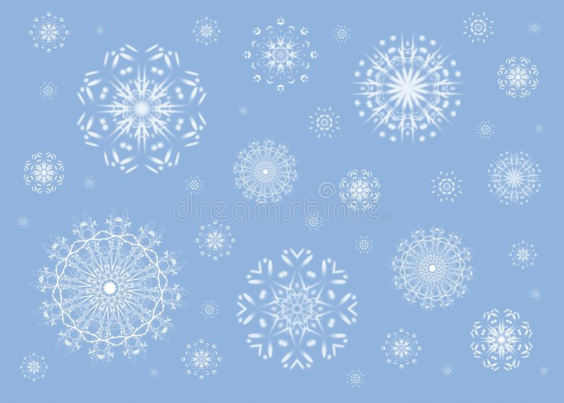 bakgrundsbluesnowflake stock illustrationer