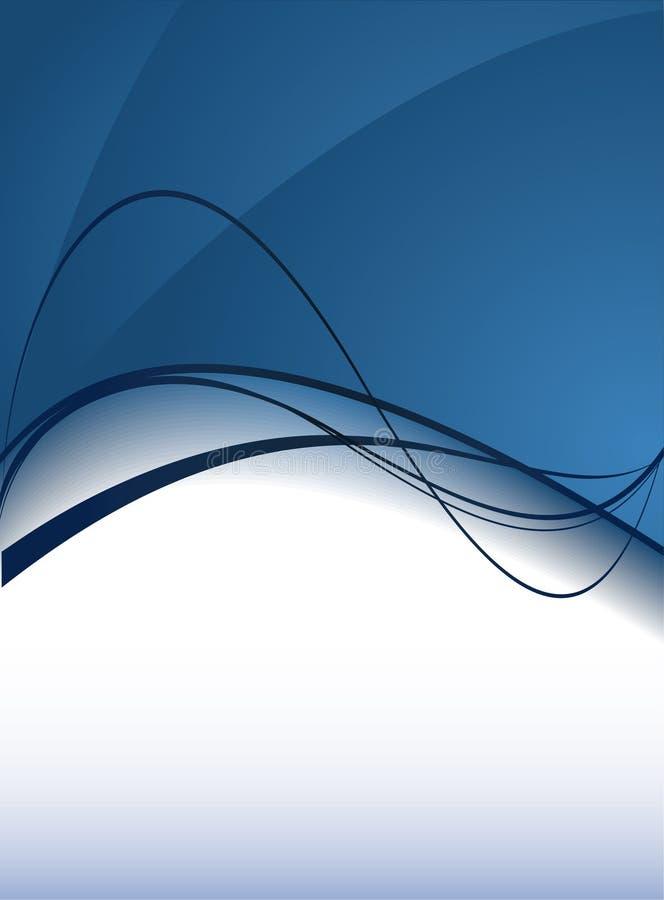 bakgrundsbluewaves vektor illustrationer