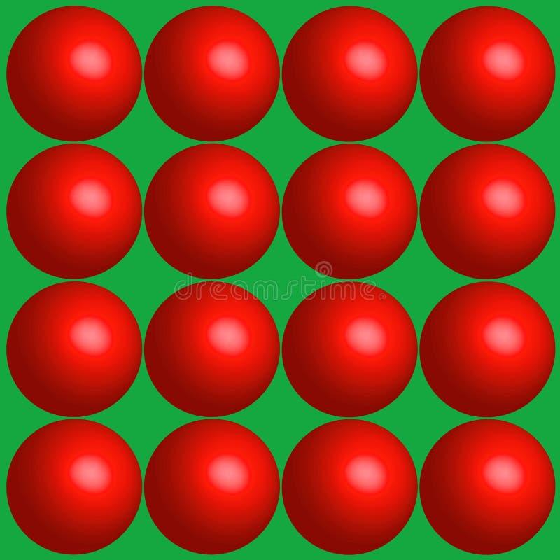 bakgrundsbollar semestrar red royaltyfri illustrationer