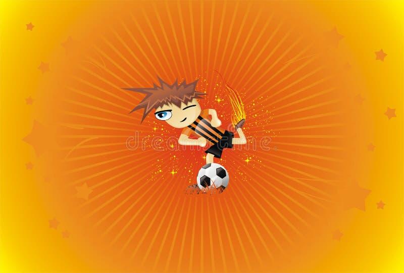 bakgrundsbollen stöd spelarefotboll royaltyfri illustrationer