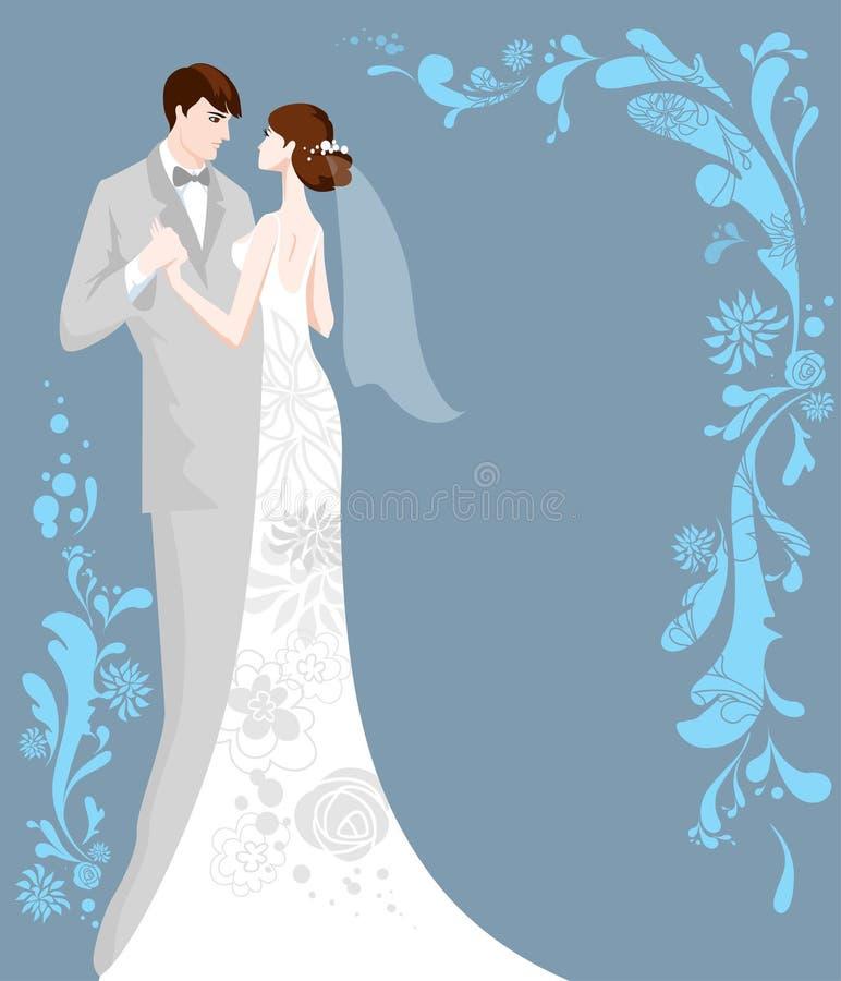 bakgrundsbröllop royaltyfri illustrationer