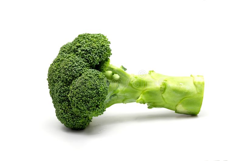 bakgrundsbroccoli isolerade white arkivfoto