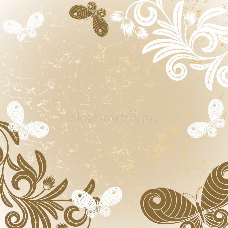 bakgrundsbrown royaltyfri illustrationer