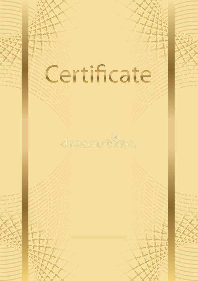 bakgrundscertifikatmodell royaltyfri foto