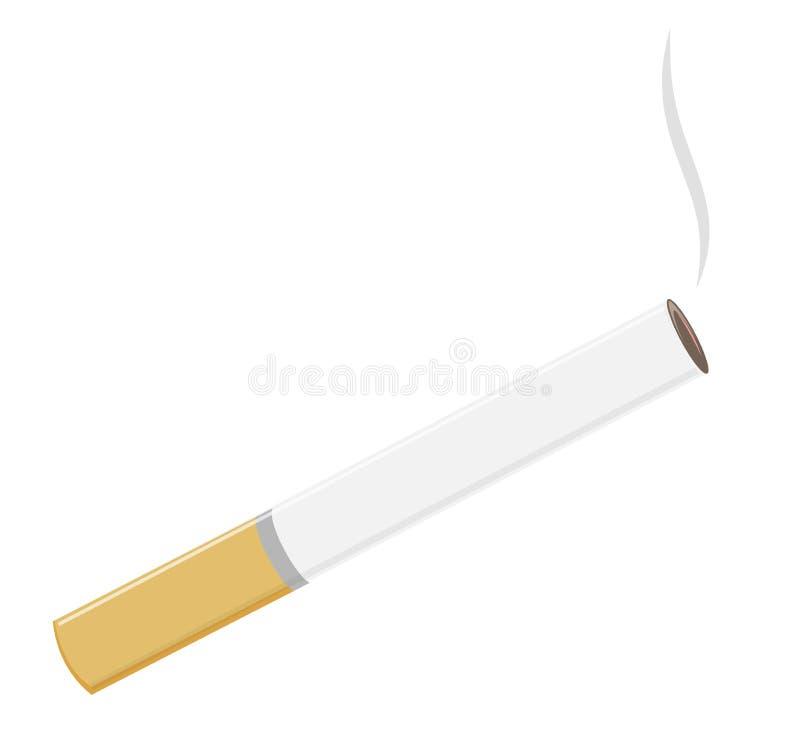 bakgrundscigaretten isolerade nr Oskicket av att röka Rök från nikotin royaltyfri illustrationer
