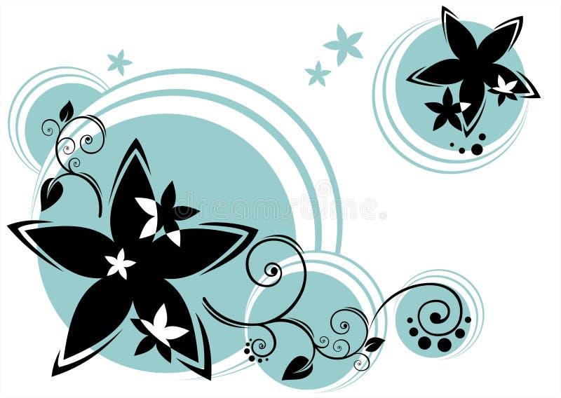 bakgrundscirkelblommor royaltyfri illustrationer