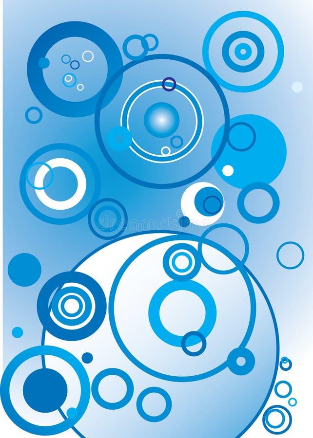 bakgrundscirkelvektor vektor illustrationer
