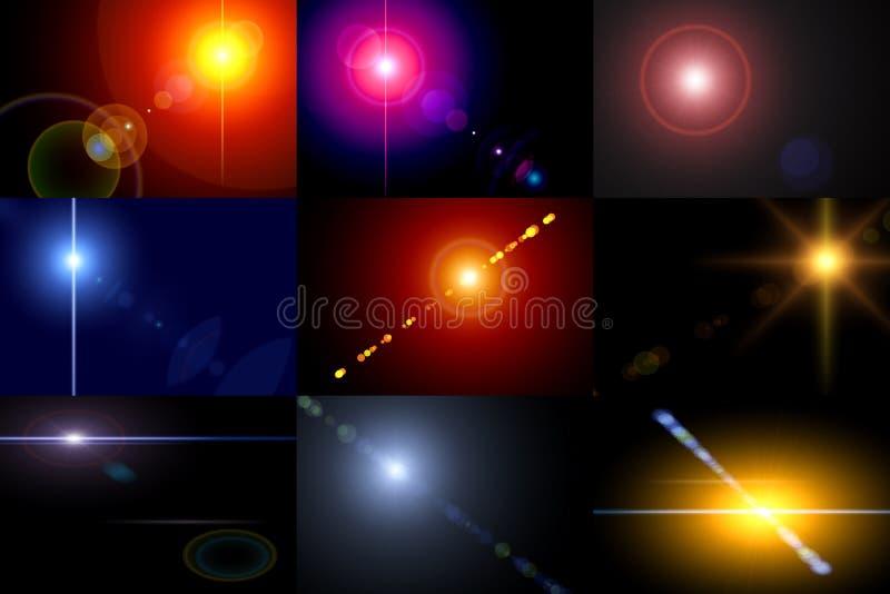 bakgrundscollagelampor vektor illustrationer