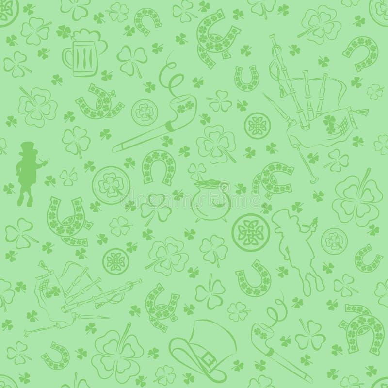 bakgrundsdagpatrick s seamless st illustration stock illustrationer