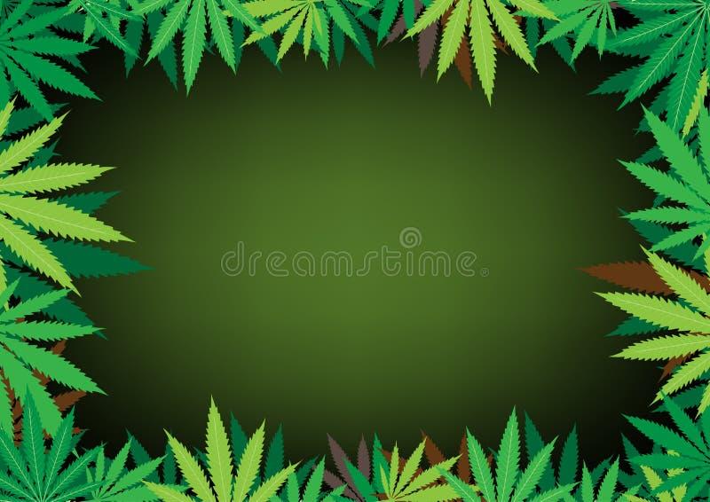 bakgrundsdarkhemp royaltyfri illustrationer