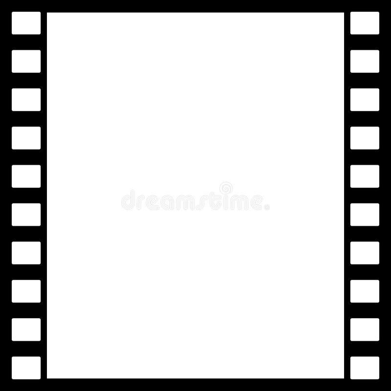 Bakgrundsdesign med beståndsdelar av den fotografiska filmen vektor illustrationer