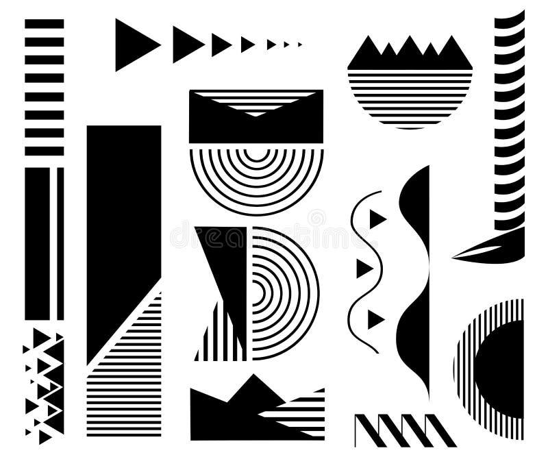bakgrundsdesignelement fyra vita snowflakes Abstrakt linje geometrisk bakgrund stock illustrationer