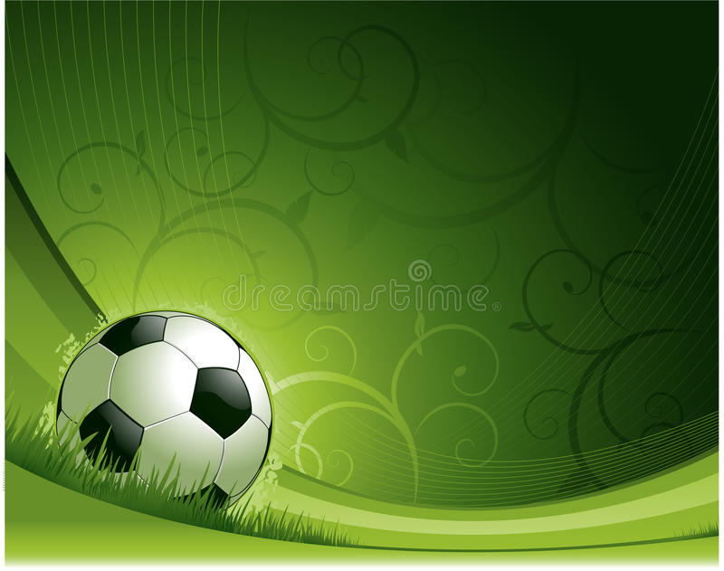 bakgrundsdesignfotboll royaltyfri illustrationer