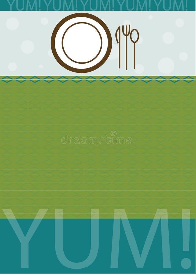 bakgrundsdinnerware vektor illustrationer