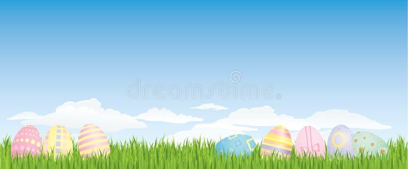 bakgrundseaster ägg vektor illustrationer