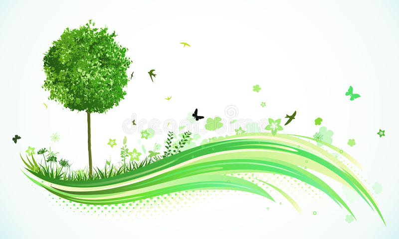 bakgrundsecogreen royaltyfri illustrationer