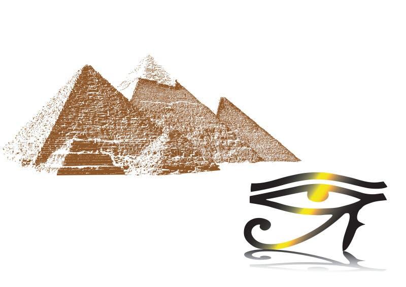 bakgrundsegypt tema royaltyfri illustrationer