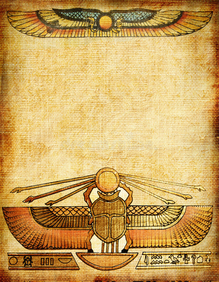 bakgrundsegyptier royaltyfri illustrationer