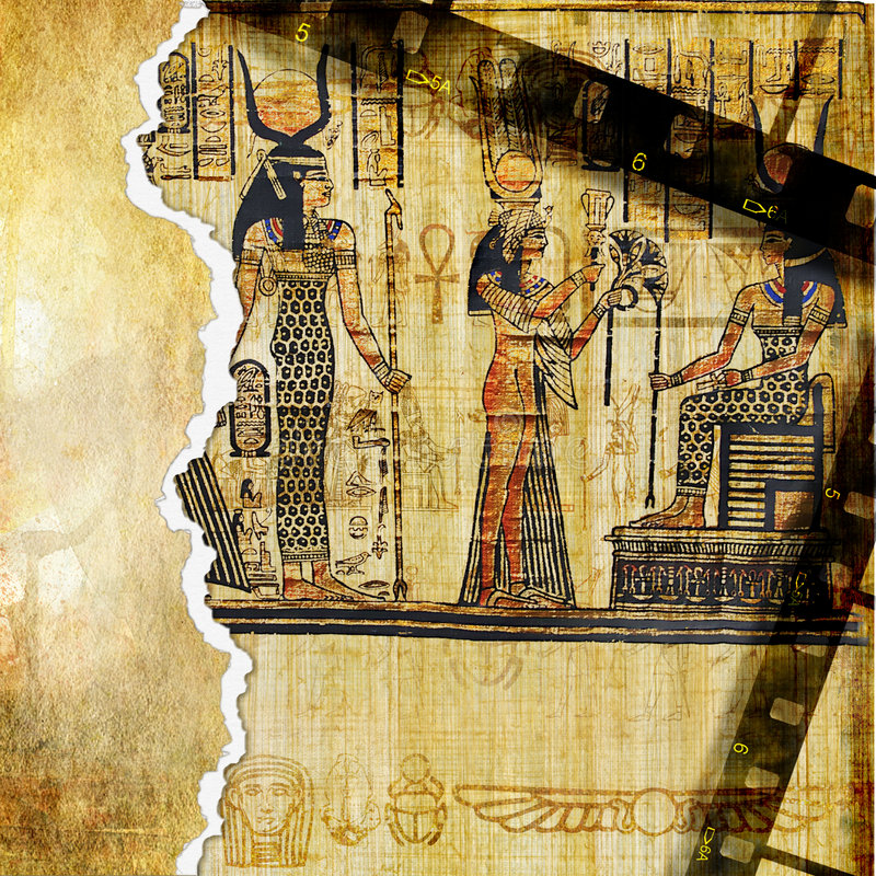 bakgrundsegyptier arkivfoto