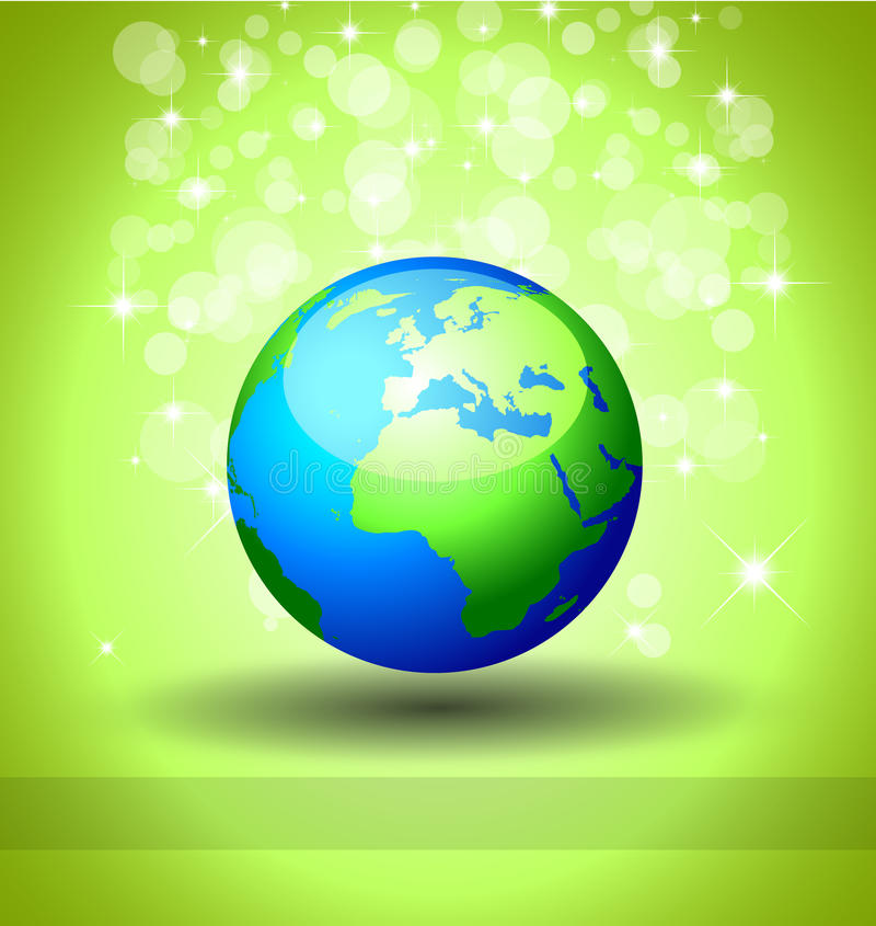 bakgrundsekologi går green royaltyfri illustrationer