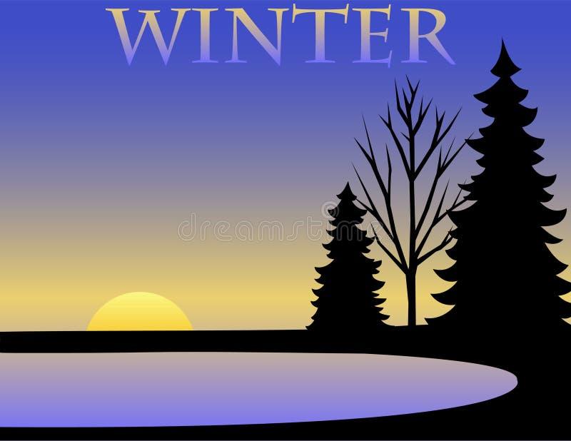 bakgrundseps-vinter vektor illustrationer