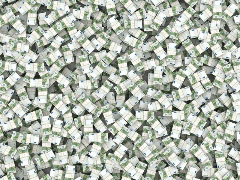 bakgrundseuroen packar rikedom stock illustrationer