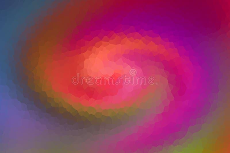 Bakgrundsfärgad geometrisk mönsterpeachi Raspberry lila grön rörelsevåg vektor illustrationer