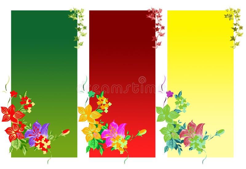 bakgrundsfärgblommor stock illustrationer