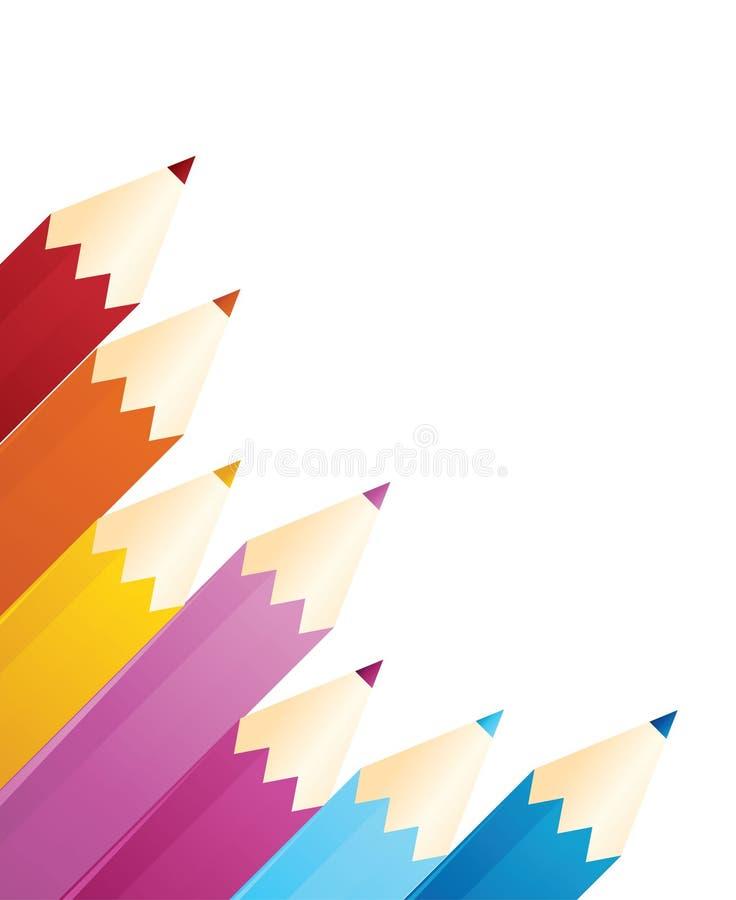 bakgrundsfärgblyertspennor vektor illustrationer