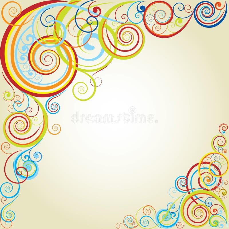 Bakgrundsfärgdesign vektor illustrationer