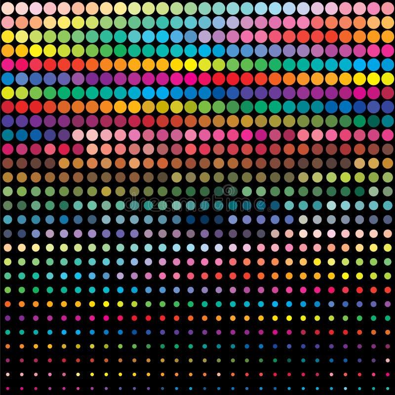 bakgrundsfärgpalett stock illustrationer