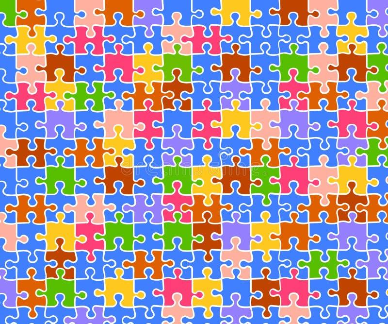 bakgrundsfärgpussel royaltyfri illustrationer