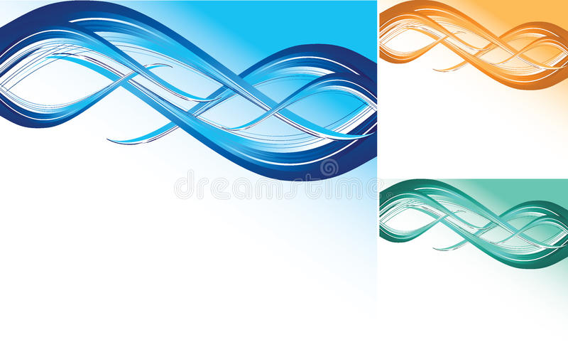 bakgrundsfärgwave vektor illustrationer