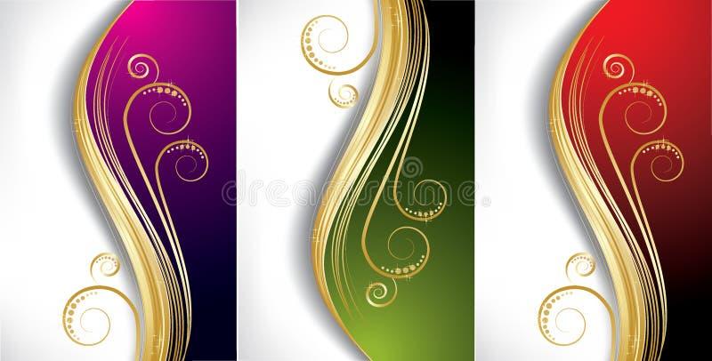 bakgrundsfärgwave stock illustrationer