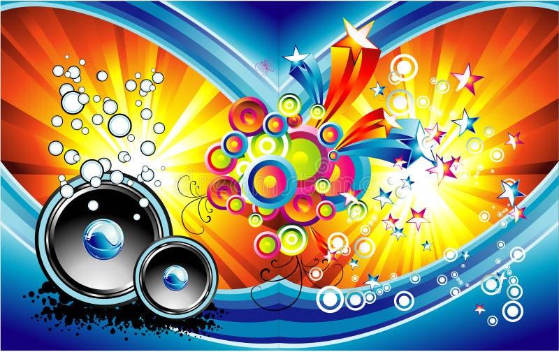 bakgrundsfantasimusik royaltyfri illustrationer