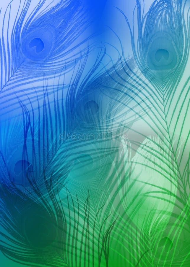 bakgrundsfjäder vektor illustrationer