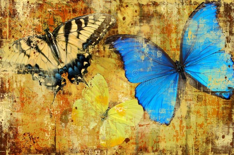 bakgrundsfjärilar vektor illustrationer