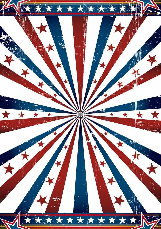 bakgrundsflaggatillstånd stock illustrationer