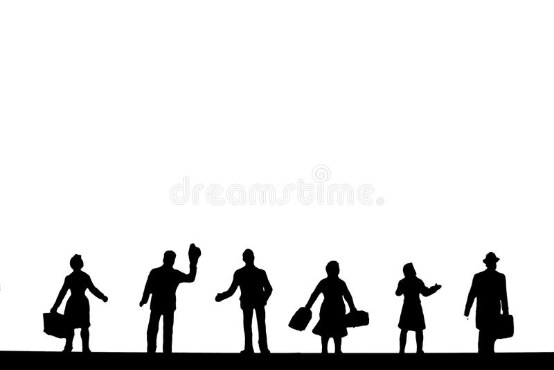 bakgrundsfolk stock illustrationer