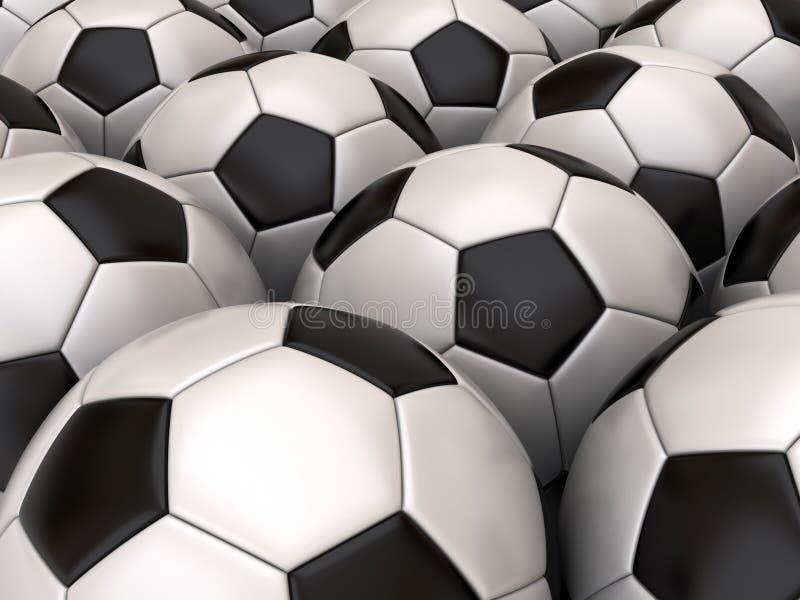 bakgrundsfotboll stock illustrationer
