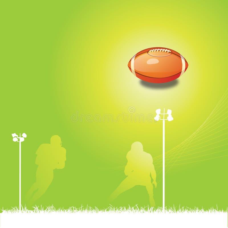 bakgrundsfotboll vektor illustrationer
