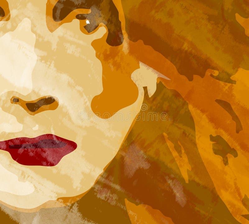 bakgrundsframsidakvinna royaltyfri illustrationer